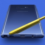 The Samsung Galaxy Note 9 with its new S Pen.