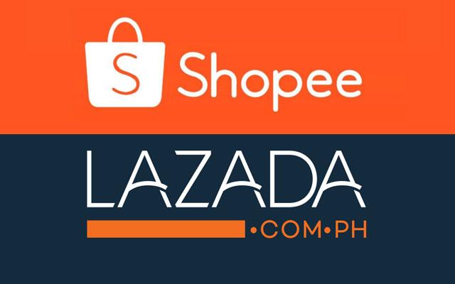 Shopee and Lazada logos.