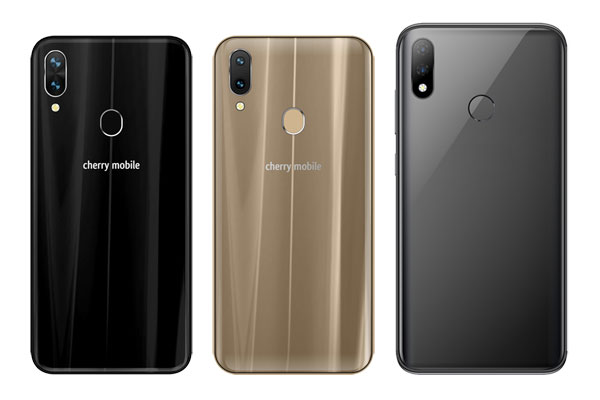 The backs of the Flare S7 series of smartphones.