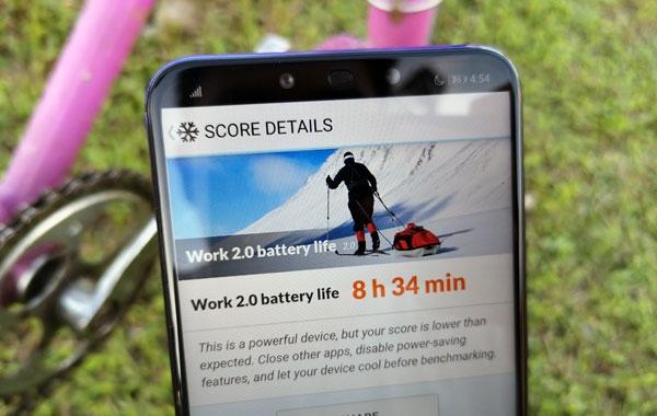 Battery test score.