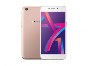 The OPPO A71k smartphone in gold.