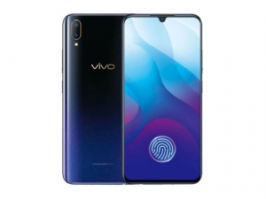 The Vivo V11 smartphone in starry night gradient color.