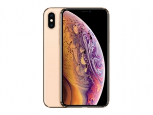 The iPhone Xs smartphone in gold.