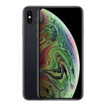 The iPhone Xs Max smartphone in space gray.