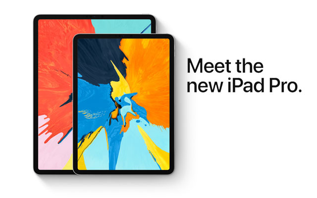 The two new iPad Pro tablets.