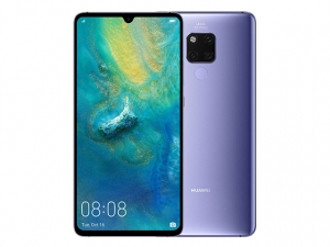 The Huawei Mate 20 X smartphone in silver color.