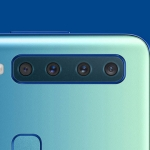 Look! The four cameras of the Samsung Galaxy A9 smartphone.