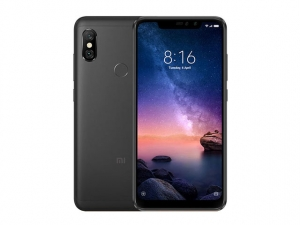 The Xiaomi Redmi Note 6 Pro smartphone in black