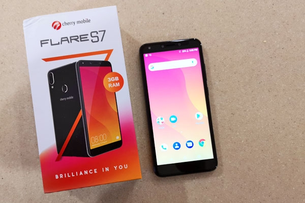 The Cherry Mobile Flare S7 and its box.