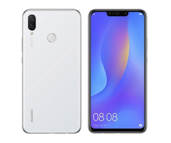 Huawei Nova 3i in pearl white.