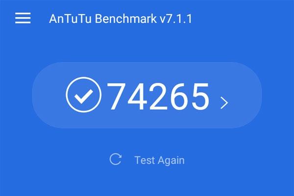 Realme C1 Antutu Benchmark score.