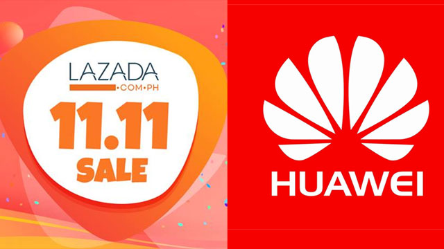 Huawei logo and Lazada 11.11 SALE