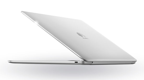 The Huawei MateBook 13 in silver.