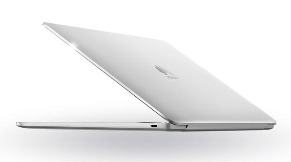 The Huawei MateBook 13 in silver.