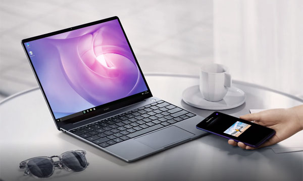 The Huawei MateBook 13 integrates with Huawei smartphones smoothly.