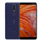 The Nokia 3.1 Plus smartphone in blue.