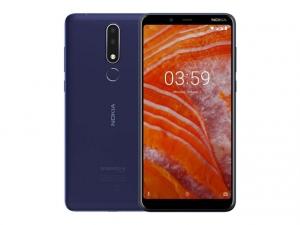 The Nokia 3.1 Plus smartphone in blue.