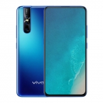The Vivo V15 Pro smartphone in blue color.