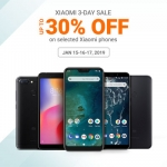 Xiaomi Holds 3-Day Sale with 30% Discount on Smartphones from Jan 15 -17, 2019