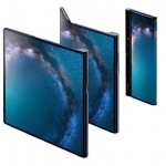 The Huawei Mate X folds to a smartphone configuration.