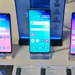 The Samsung Galaxy S10e, S10+ and S10.