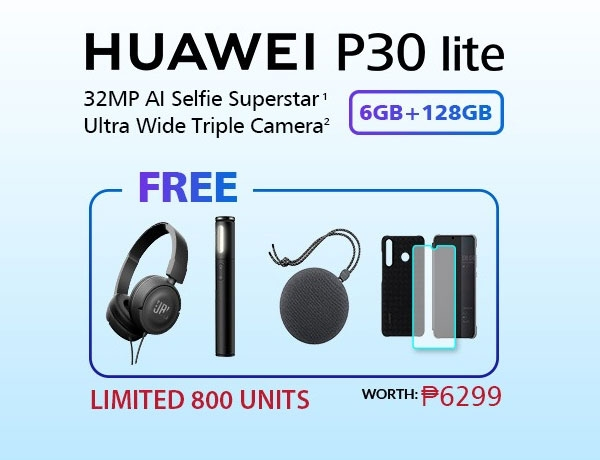 Huawei P30 Lite freebies.
