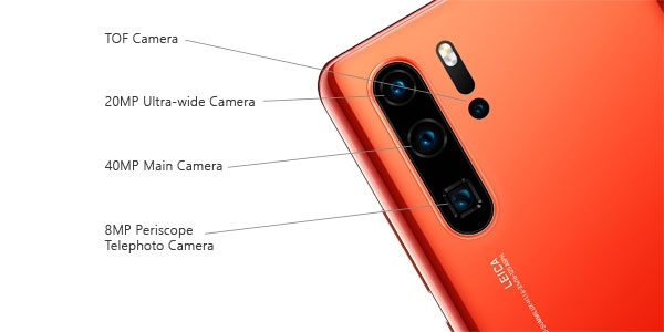 These are the cameras of the Huawei P30 Pro.