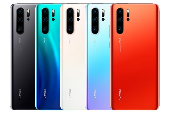 Huawei P30 Pro color options.