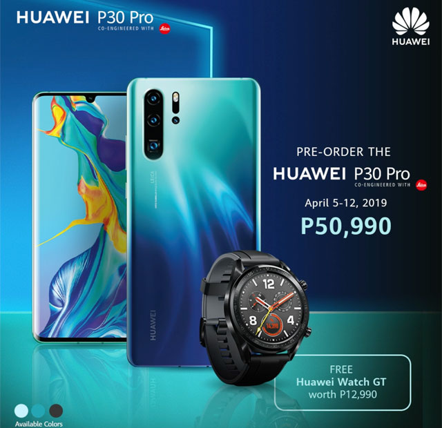 Official price and pre-order details of the Huawei P30 Pro!