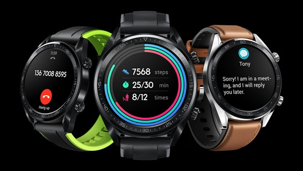 Color options of the Huawei Watch GT.