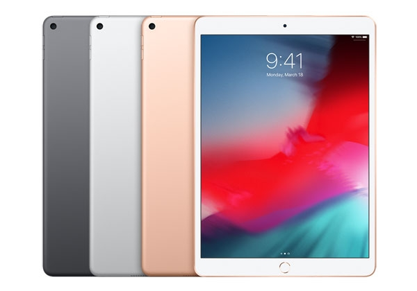 iPad Air 2019 color options.