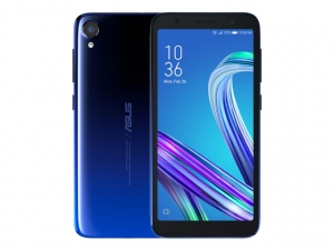 The ASUS Zenfone Live L2 smartphone in Cosmic Blue color.