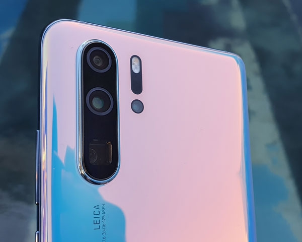 Closer look at the cameras of the Huawei P30 Pro.
