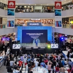 The Huawei P30 series launching event at the SM Megamall Fashion Hall.
