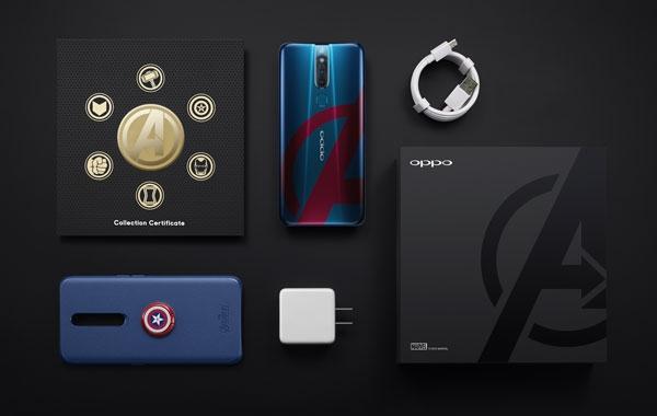 Here are the contents of the box of the The OPPO F11 Pro Avengers Limited Edition smartphone.