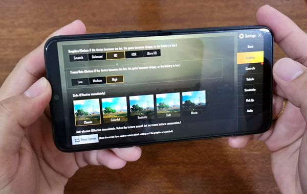 PUBG Mobile on Realme 3