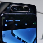 Take a look at the triple cameras of the Samsung Galaxy A80!