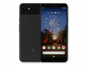 The Google Pixel 3a XL smartphone in Just Black color.