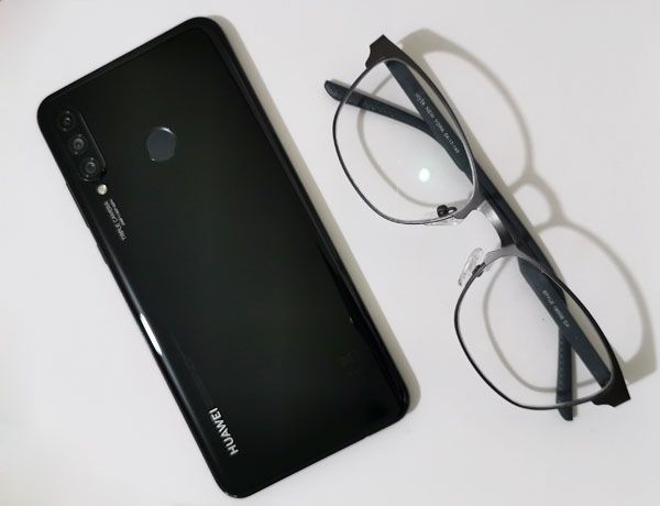 The back of the Huawei P30 Lite.