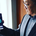 MVP shows off the 5G Huawei smartphone.