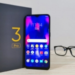 The Realme 3 Pro smartphone and its box!