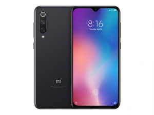 The Xiaomi Mi 9 SE smartphone in black.