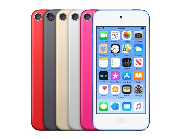 iPod touch 2019 color options.