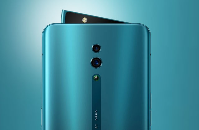 OPPO Reno sharks fin pop-up camera.