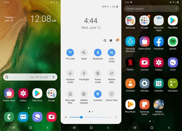 Samsung Galaxy A20 screenshots.