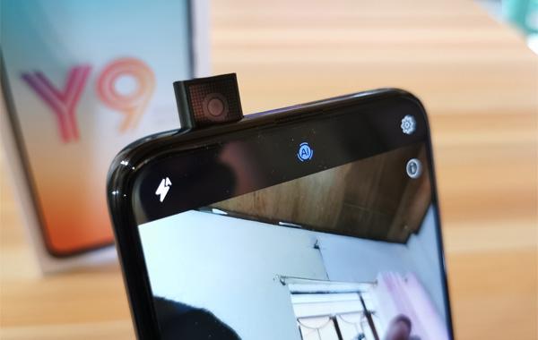 Huawei Y9 Prime 2019 motorized selfie camera.