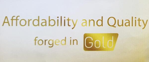 MyPhone Gold Series tagline