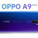 The OPPO A9 2020 in space purple color.