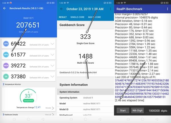 Realme 5 Pro Benchmark Scores