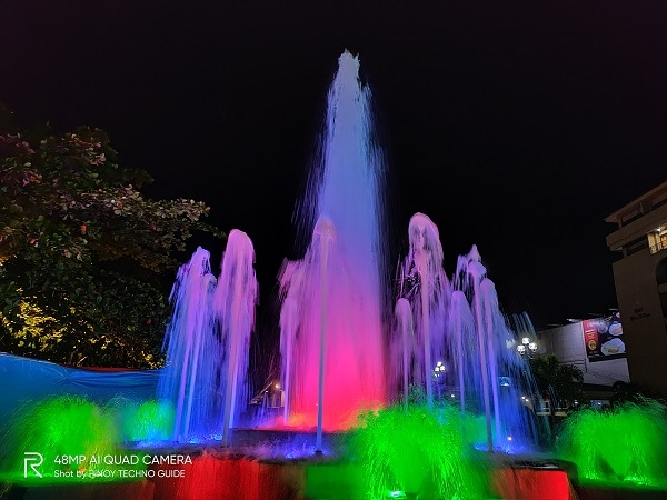 Water fountain by Realme 5 Pro with Nightscape mode.